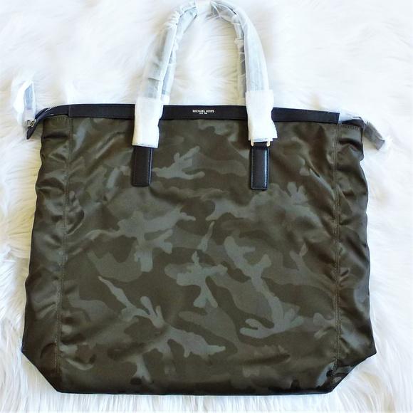 4a11fedaa827 Michael Kors Bags | Kent Large Tote Green Camouflage Nwt | Poshmark